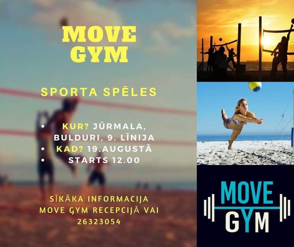 Move Gym sporta spēles