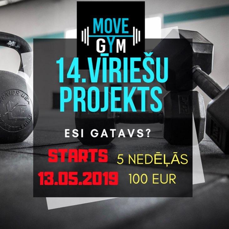 Piesakies MOVE GYM 14.vīriešu 💥POWER 💥projektam ❗️ STARTS 13.05.2019‼️ (VIETU SKAITS IEROBEŽOTS)‼️