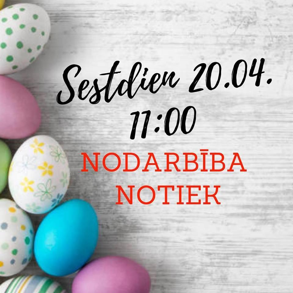 20.04. sestdien, nodarbība 11:00 notiks❗️